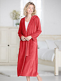 Velour Hooded Robe