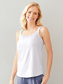 V Neck Tank with Shirttail Hem