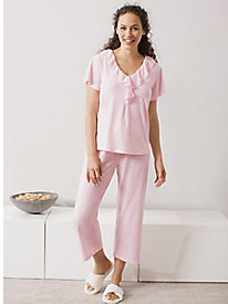 Ellie Ruffle Capri Pajamas by Softies