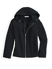 Stretch Weave Hooded Jacket