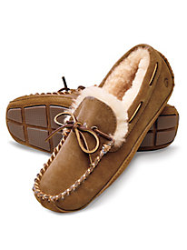 Men's Acorn Suede Sheepskin-lined Slippers