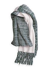Cotton Silk Fringe Scarf