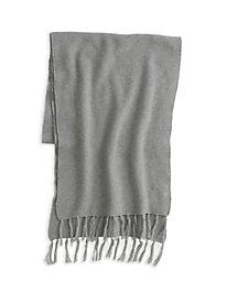Textured Cotton Silk Fringe Scarf