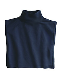Unisex Mock Neck Dickey in Mid-weight Washable Silk