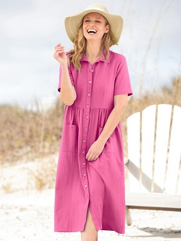 Captiva Cotton Short-Sleeve Weekend Dress - Image 1 of 7