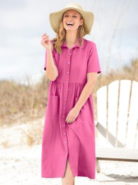 Captiva Cotton Short-Sleeve Weekend Dress