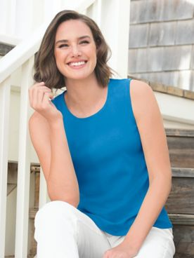 Coastal Cotton Knit Tank Top
