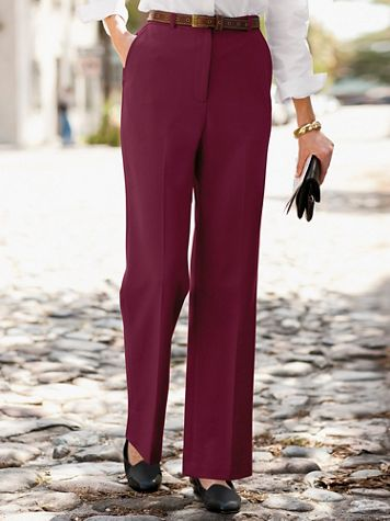 Wool Gabardine Trouser Pants with Stretch - Image 1 of 10
