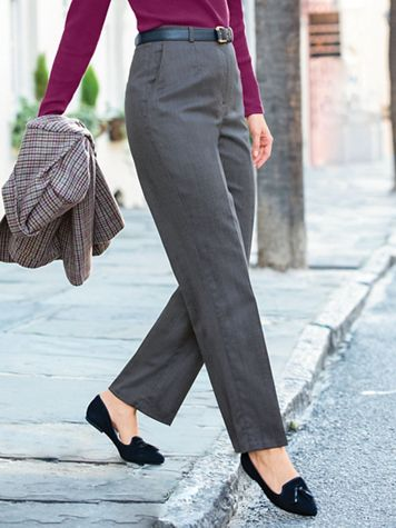Wool Gabardine Trouser Pants with Stretch - Image 1 of 1