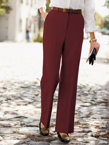 Wool Gabardine Trouser Pants with Stretch - Image 6 of 9
