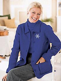 Retro Vintage Style Coats, Jackets, Fur Stoles Classic Boiled-Wool Jacket $16.97 AT vintagedancer.com