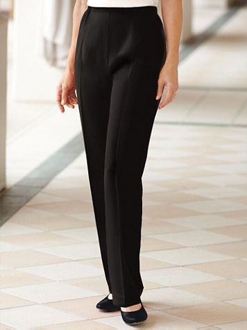 Herringbone Straight Leg Pull-On Pants - Image 1 of 18