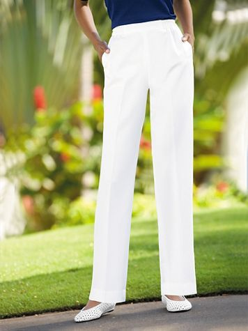 Herringbone Straight Leg Pull-On Pants - Image 1 of 11