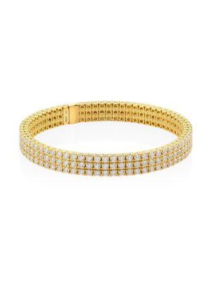 18 K Yellow Gold Diamond Stretch Bracelet by Zydo