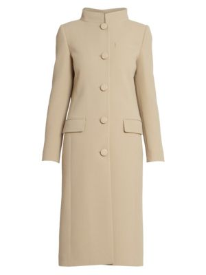 Wool Funnelneck Overcoat by Givenchy