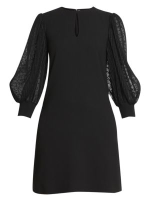 Soft Wool Crepe Shift Dress by Givenchy