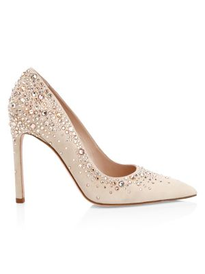 Lalaina Leather & Crystal Pumps by Stuart Weitzman