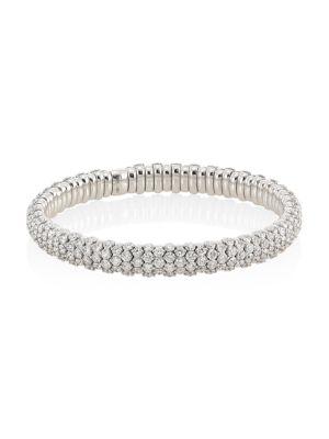 18 K White Gold Diamond Stretch Bracelet by Zydo