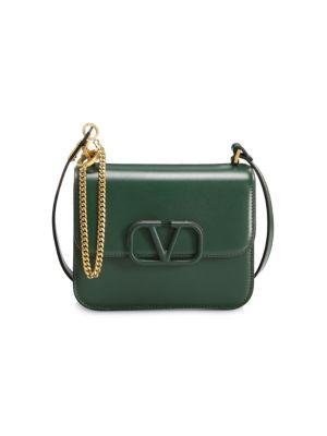 Small V Sling Leather Crossbody Bag by Valentino Garavani