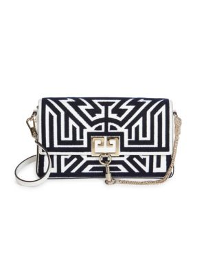 Small Tuftling Labyrinth Leather Shoulder Bag by Givenchy
