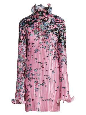 Floral Pleated Wave Dress by Givenchy