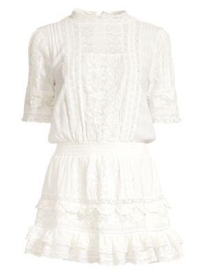 Leighton Lace Blouson Dress by Love Shack Fancy