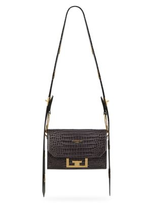 Nano Eden Croc Embossed Leather Convertible Bag by Givenchy