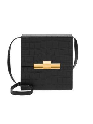 Mini Daisey Croc Embossed Leather Crossbody Bag by Bottega Veneta