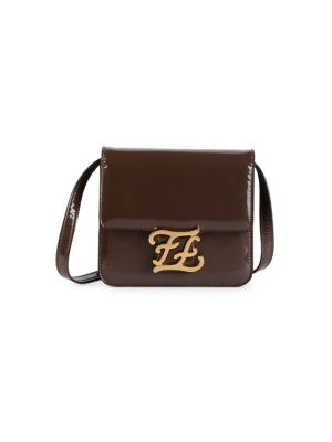 Karligraphy Patent Leather Crossbody Bag by Fendi