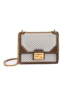 Small Kan U Perforated Leather Shoulder Bag by Fendi