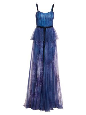 Sequin Peplum Waist Gown by Marchesa Notte