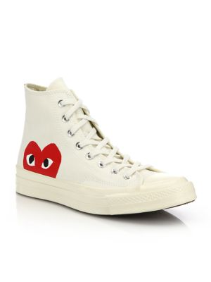 Peek A Boo High Top Sneakers by Comme Des Garcons Play