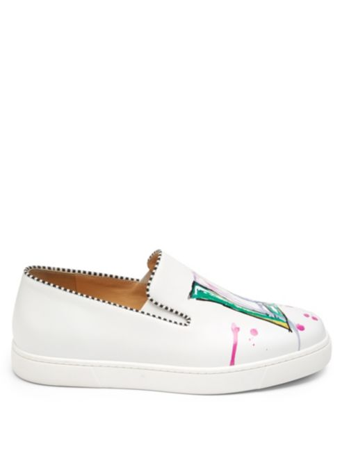 size 40 5e1a4 95ea0 Leather Louboutin Love Loubi Sneakers Christian x0OAqPtw0 ...