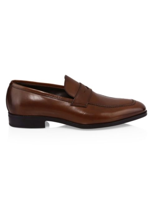 f9b76b29a76 York New Raleigh To Boot Penny Leather Loafers UzqvEv - inept ...
