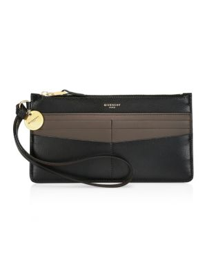 Gv3 Bicolor Leather Wristlet by Givenchy