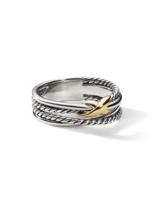 X Crossover Ring With Gold by David Yurman
