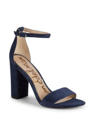 Yaro Block Heel Suede Sandals by Sam Edelman
