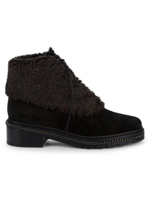 Keepwarm Shearling, Faux Fur & Suede Ankle Boots by Stuart Weitzman