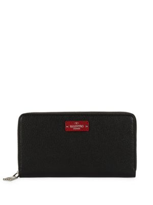 Zip Around Leather Wallet by Valentino