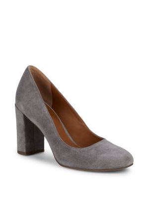 Aziza Block Heel Suede Pumps by Sarto By Franco Sarto