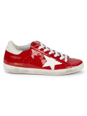Superstar Low Top Patent Leather Sneakers by Golden Goose Deluxe Brand