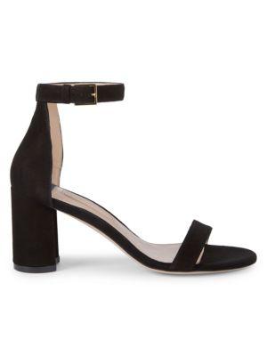 Adelaide Suede Block Heel Sandals by Stuart Weitzman