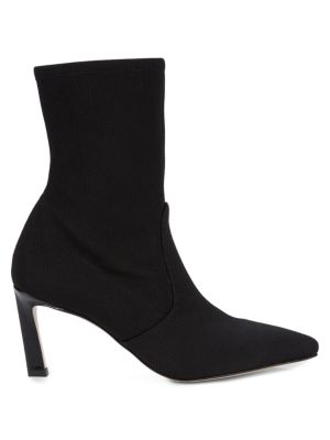 Bernadette Point Toe Sock Booties by Stuart Weitzman