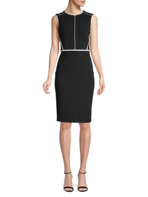 Classic Sleeveless Sheath Dress by Calvin Klein