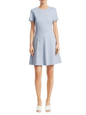 Modern Seamed Shift Dress by Theory