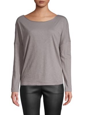 Long Sleeve Cotton Top by Vince