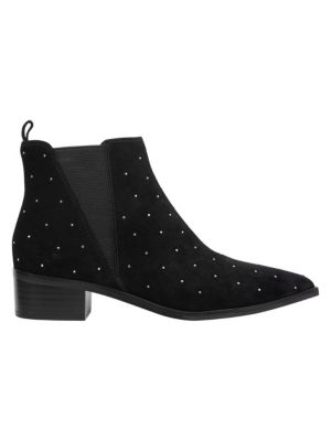 Marc Fisher Ltd Yanaba Micro Studded Suede Ankle Booties