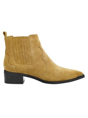 Yohani Suede Ankle Booties by Marc Fisher Ltd