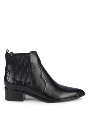 Yohani Leather Booties by Marc Fisher Ltd