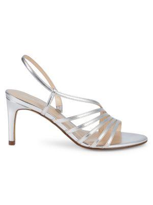 Metallic Strappy Sandals by Nine West